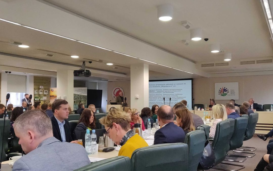 """13 stycznia wzięliśmy udział w spotkaniu """"Kiermasz Innowacyjnych Inicjatyw""""  w Ministerstwie Rolnictwa i Rozwoju Wsi."""